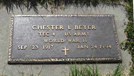BEYER, CHESTER L. (MILITARY MARKER) - Hamilton County, Nebraska | CHESTER L. (MILITARY MARKER) BEYER - Nebraska Gravestone Photos