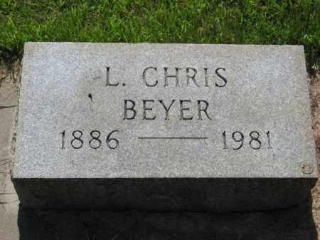 BEYER, L. CHRIS - Hamilton County, Nebraska   L. CHRIS BEYER - Nebraska Gravestone Photos