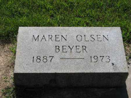 OLSEN BEYER, MAREN - Hamilton County, Nebraska | MAREN OLSEN BEYER - Nebraska Gravestone Photos