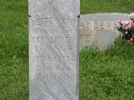 ERIKSEN, METTE MARIE (CLOSEUP) - Hamilton County, Nebraska | METTE MARIE (CLOSEUP) ERIKSEN - Nebraska Gravestone Photos