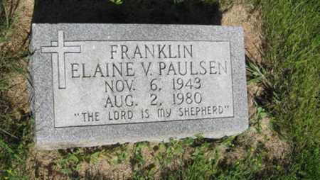 FRANKLIN, ELAINE V. - Hamilton County, Nebraska | ELAINE V. FRANKLIN - Nebraska Gravestone Photos