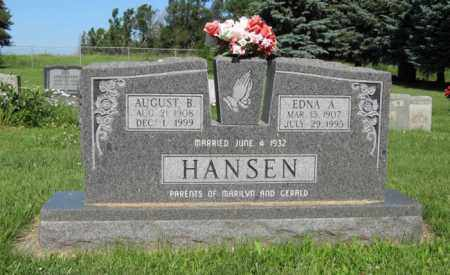 HANSEN, AUGUST B. - Hamilton County, Nebraska | AUGUST B. HANSEN - Nebraska Gravestone Photos