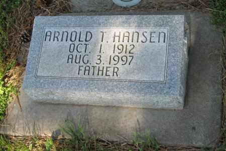 HANSEN, ARNOLD T. - Hamilton County, Nebraska | ARNOLD T. HANSEN - Nebraska Gravestone Photos