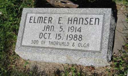 HANSEN, ELMER E. - Hamilton County, Nebraska | ELMER E. HANSEN - Nebraska Gravestone Photos