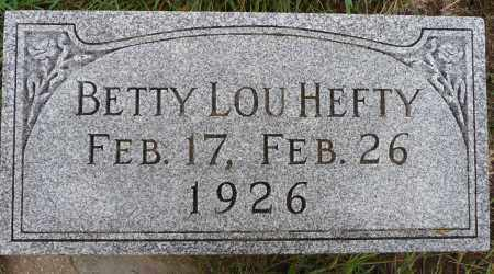HEFTY, BETTY LOU - Hamilton County, Nebraska | BETTY LOU HEFTY - Nebraska Gravestone Photos