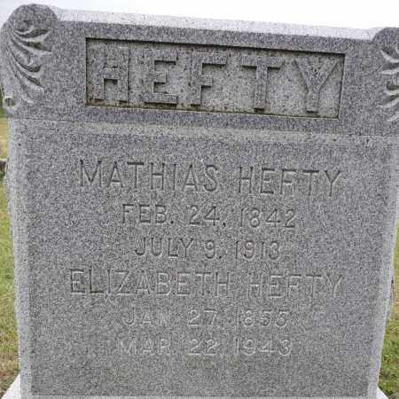 HEFTY, ELIZABETH - Hamilton County, Nebraska   ELIZABETH HEFTY - Nebraska Gravestone Photos