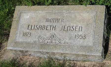 JENSEN, ELISABETH - Hamilton County, Nebraska | ELISABETH JENSEN - Nebraska Gravestone Photos