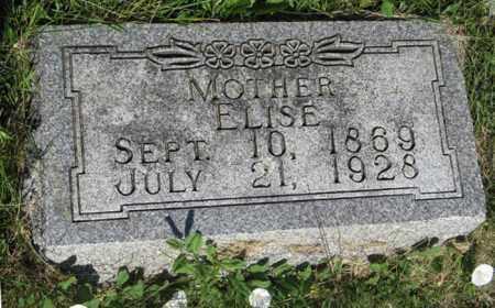 JENSEN, ELISE - Hamilton County, Nebraska | ELISE JENSEN - Nebraska Gravestone Photos