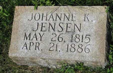 JENSEN, JOHANNE K. - Hamilton County, Nebraska | JOHANNE K. JENSEN - Nebraska Gravestone Photos