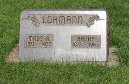 LOHMANN, MADS A. - Hamilton County, Nebraska | MADS A. LOHMANN - Nebraska Gravestone Photos