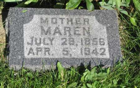 NISSEN, MAREN - Hamilton County, Nebraska   MAREN NISSEN - Nebraska Gravestone Photos