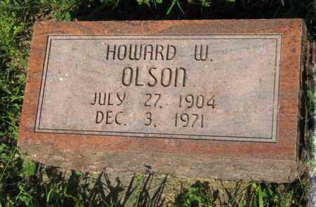OLSON, HOWARD W. - Hamilton County, Nebraska | HOWARD W. OLSON - Nebraska Gravestone Photos