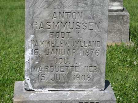 RASMMUSSEN, ANTON (CLOSEUP) - Hamilton County, Nebraska | ANTON (CLOSEUP) RASMMUSSEN - Nebraska Gravestone Photos