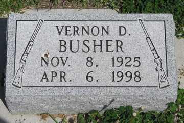 BUSHER, VERNON D. - Hitchcock County, Nebraska | VERNON D. BUSHER - Nebraska Gravestone Photos