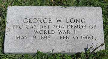 LONG, GEORGE W. - Hitchcock County, Nebraska | GEORGE W. LONG - Nebraska Gravestone Photos