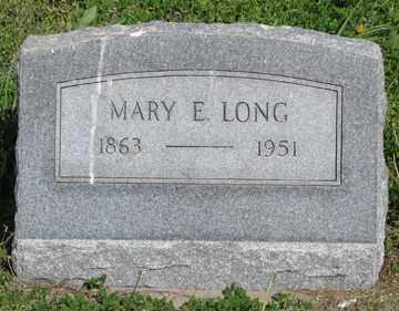 LONG, MARY E. - Hitchcock County, Nebraska | MARY E. LONG - Nebraska Gravestone Photos