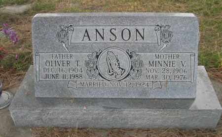 ANSON, MINNIE V. - Holt County, Nebraska | MINNIE V. ANSON - Nebraska Gravestone Photos