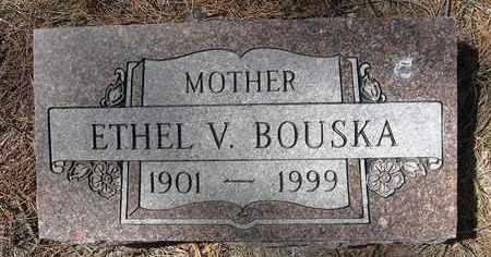 BOUSKA, ETHEL V - Holt County, Nebraska | ETHEL V BOUSKA - Nebraska Gravestone Photos