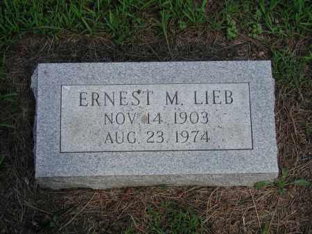 LIEB, ERNEST M. - Holt County, Nebraska | ERNEST M. LIEB - Nebraska Gravestone Photos