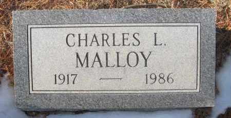 MALLOY, CHARLES L - Holt County, Nebraska   CHARLES L MALLOY - Nebraska Gravestone Photos