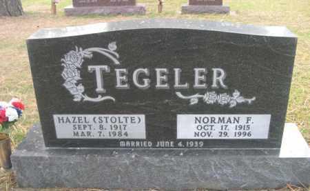 TEGELER, NORMAN F. - Holt County, Nebraska | NORMAN F. TEGELER - Nebraska Gravestone Photos