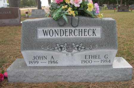 WONDERCHECK, JOHN A. - Holt County, Nebraska | JOHN A. WONDERCHECK - Nebraska Gravestone Photos