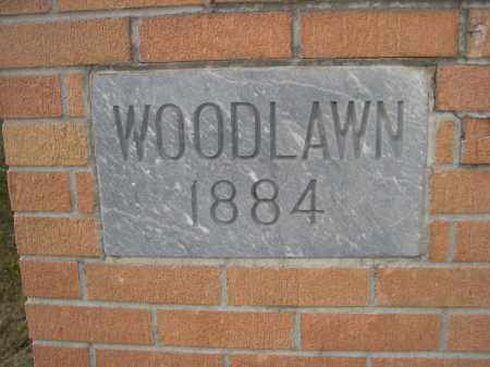 *WOODLAWN CEMETERY, SIGN FOR - Holt County, Nebraska   SIGN FOR *WOODLAWN CEMETERY - Nebraska Gravestone Photos