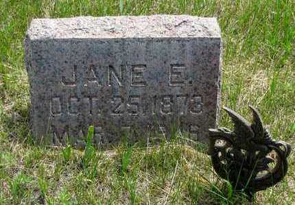 CATRON, JANE E. - Hooker County, Nebraska | JANE E. CATRON - Nebraska Gravestone Photos