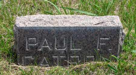 CATRON, PAUL F. - Hooker County, Nebraska | PAUL F. CATRON - Nebraska Gravestone Photos