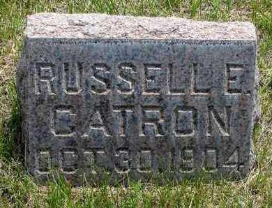 CATRON, RUSSELL E. - Hooker County, Nebraska   RUSSELL E. CATRON - Nebraska Gravestone Photos