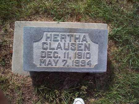 CLAUSEN, HERTHA - Howard County, Nebraska   HERTHA CLAUSEN - Nebraska Gravestone Photos