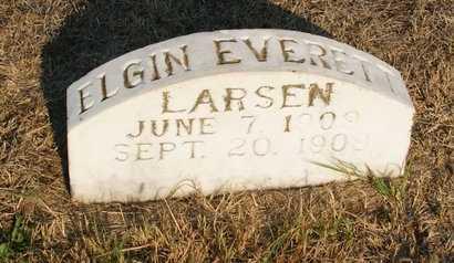 LARSEN, ELGIN EVERET - Howard County, Nebraska | ELGIN EVERET LARSEN - Nebraska Gravestone Photos