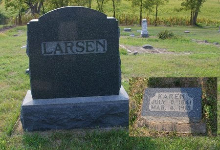 LARSEN, KAREN - Howard County, Nebraska | KAREN LARSEN - Nebraska Gravestone Photos