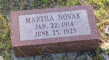NOVAK, MARTHA - Howard County, Nebraska   MARTHA NOVAK - Nebraska Gravestone Photos