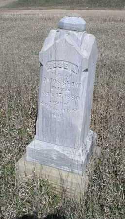 SHAW, ROSE - Jefferson County, Nebraska | ROSE SHAW - Nebraska Gravestone Photos
