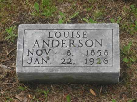 ANDERSON, LOUISE - Kearney County, Nebraska | LOUISE ANDERSON - Nebraska Gravestone Photos