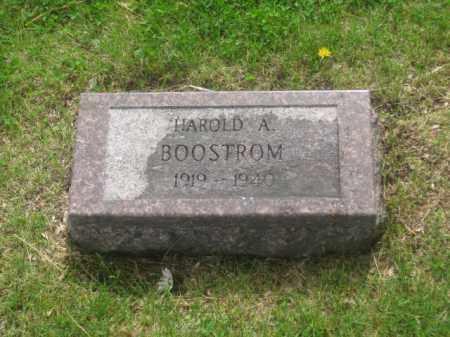 BOOSTROM, HAROLD A. - Kearney County, Nebraska   HAROLD A. BOOSTROM - Nebraska Gravestone Photos