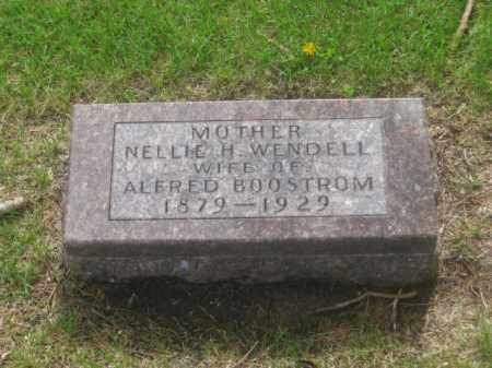 WENDELL BOOSTROM, NELLIE H. - Kearney County, Nebraska | NELLIE H. WENDELL BOOSTROM - Nebraska Gravestone Photos