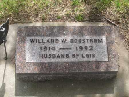 BOOSTROM, WILLARD W. - Kearney County, Nebraska | WILLARD W. BOOSTROM - Nebraska Gravestone Photos