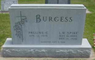 KING BURGESS, PAULINE C - Kearney County, Nebraska   PAULINE C KING BURGESS - Nebraska Gravestone Photos