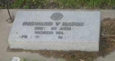 HANSEN, INGWARD V. - Kearney County, Nebraska | INGWARD V. HANSEN - Nebraska Gravestone Photos