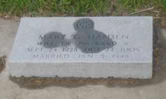 HANSEN, MARY - Kearney County, Nebraska   MARY HANSEN - Nebraska Gravestone Photos