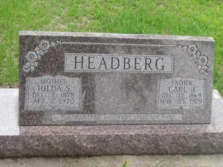 HEADBERG, CARL J. - Kearney County, Nebraska | CARL J. HEADBERG - Nebraska Gravestone Photos