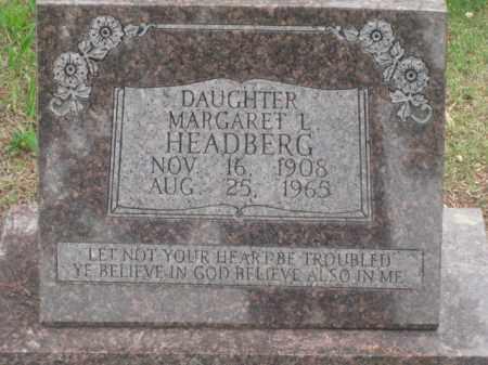 HEADBERG, MARGARET L. - Kearney County, Nebraska | MARGARET L. HEADBERG - Nebraska Gravestone Photos