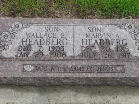 HEADBERG, WALLACE E. - Kearney County, Nebraska | WALLACE E. HEADBERG - Nebraska Gravestone Photos