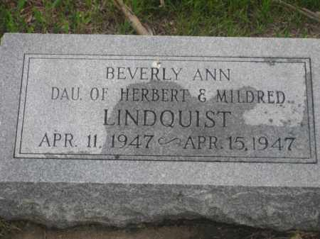 LINDQUIST, BEVERLY ANN - Kearney County, Nebraska | BEVERLY ANN LINDQUIST - Nebraska Gravestone Photos