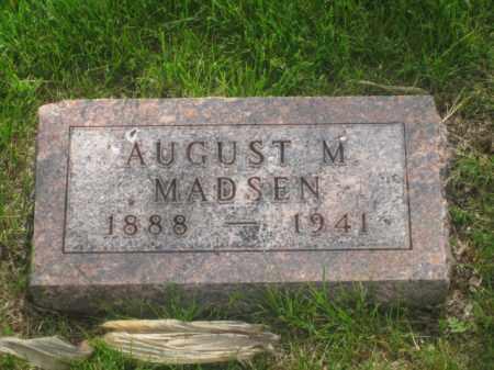 MADSEN, AUGUST M. - Kearney County, Nebraska | AUGUST M. MADSEN - Nebraska Gravestone Photos