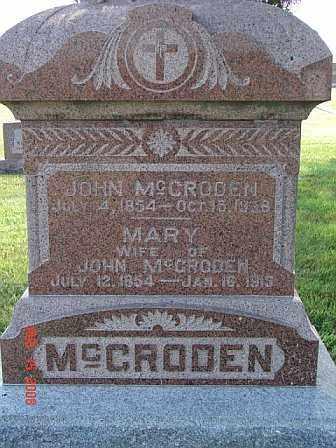 MCCRODEN, MARY - Kearney County, Nebraska | MARY MCCRODEN - Nebraska Gravestone Photos