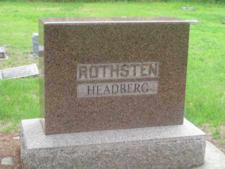 ROTHSTEN / HEADBERG, FAMILY - Kearney County, Nebraska | FAMILY ROTHSTEN / HEADBERG - Nebraska Gravestone Photos