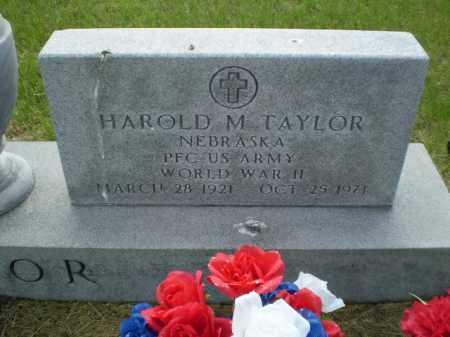 TAYLOR, HAROLD  M. - Kearney County, Nebraska   HAROLD  M. TAYLOR - Nebraska Gravestone Photos